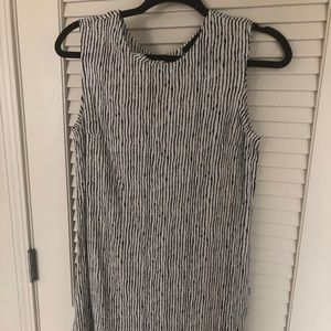 Lumiere black and white striped dress